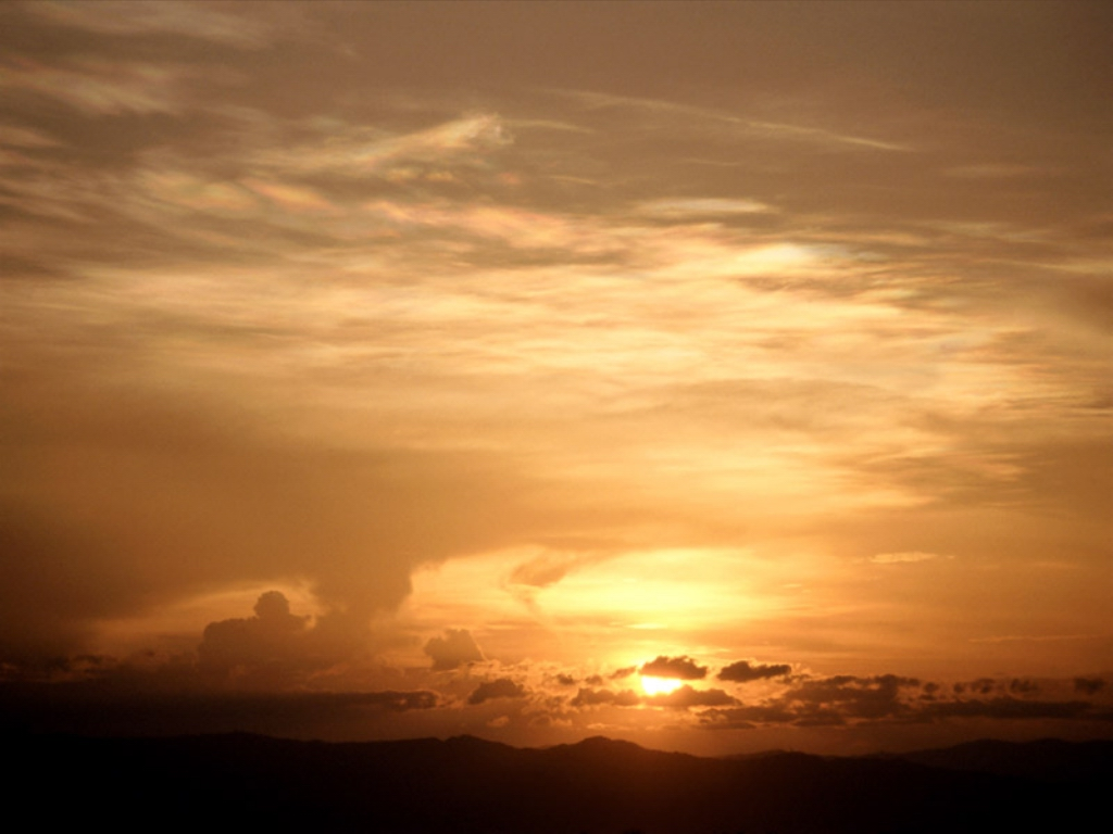 Clouded Sunset Ethiopia